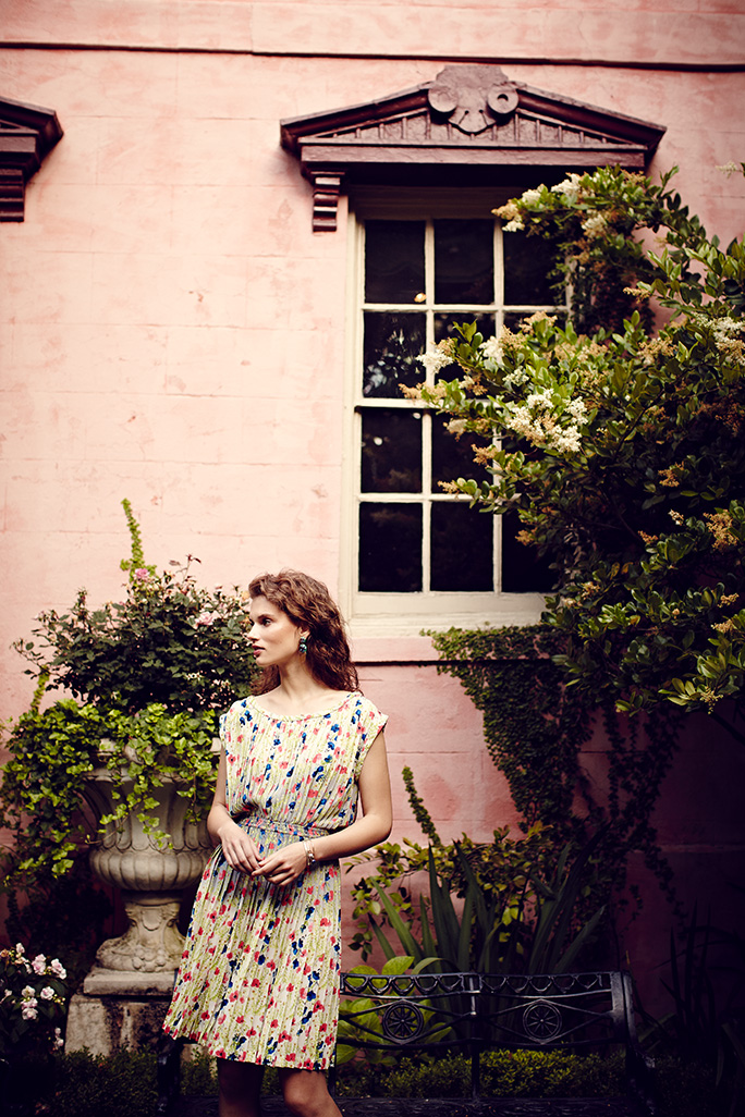 Advertising shooting for Anthropologie in Savannah