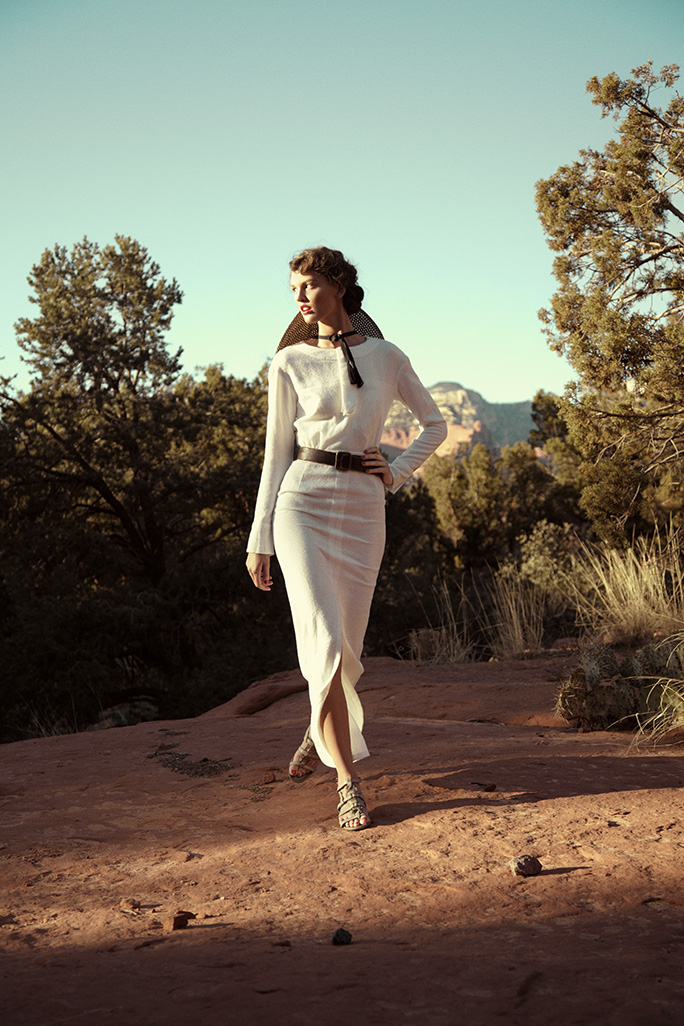 Shooting for Town & Country Magazine at Frank Lloyd Wright Foundation, Arizona.