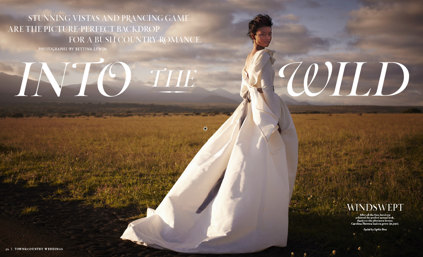 Wedding shooting for Town & Country in Kenya