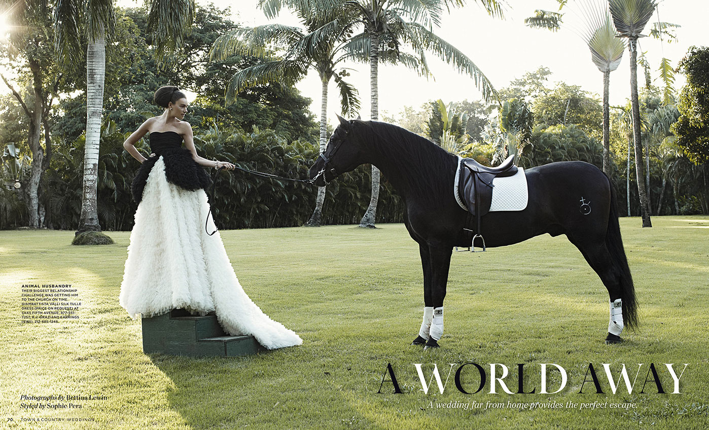 Wedding shooting for Town & Country in the dominican republic.