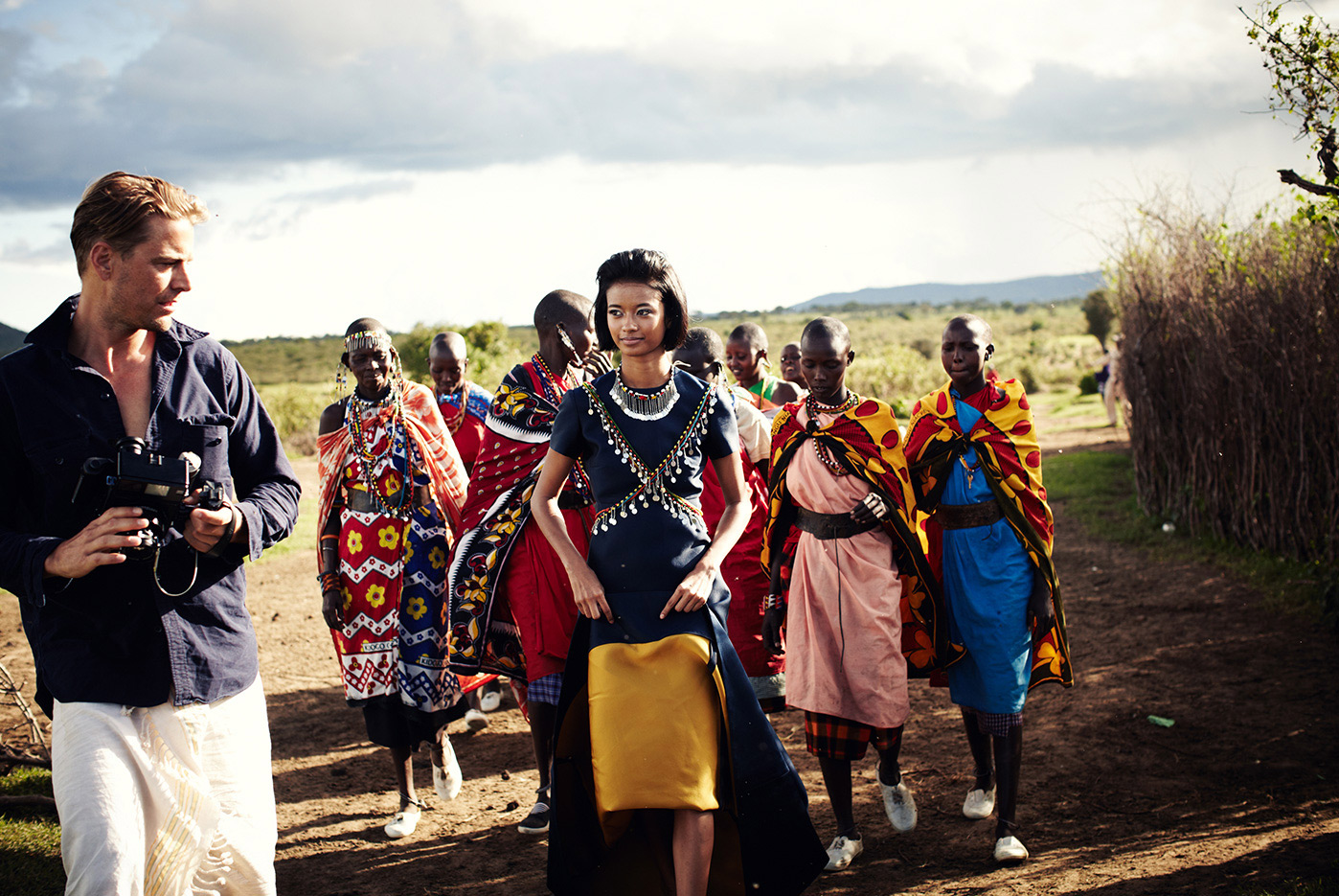 Shooting for Town & Country in Kenya.